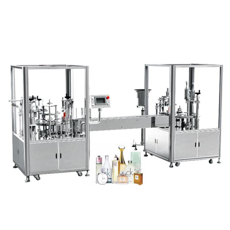 Stroj za samodejno polnjenje in zapiranje parfumov