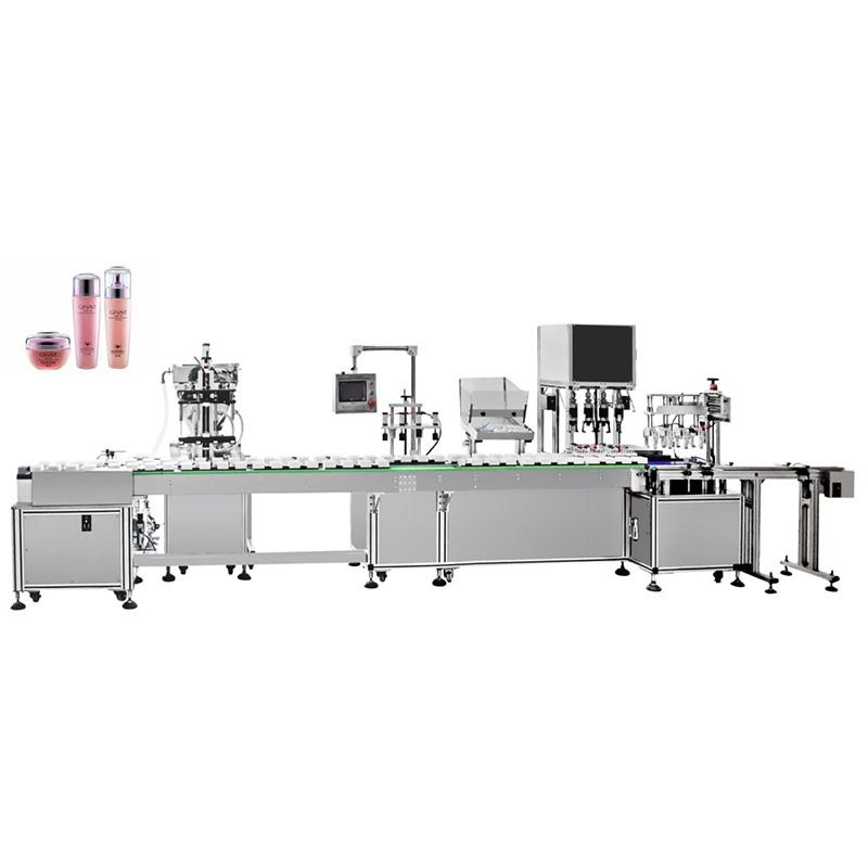 Avtomatski stroj za polnjenje in zapiranje vodne emulzije